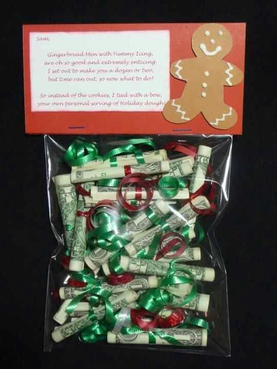 Very clever DIY idea for giving cash money as a Christmas gift this year!
