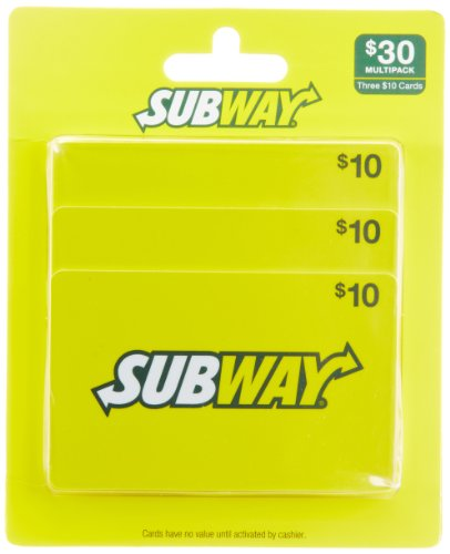 Subway Gift Cards, Multipack of 3 -