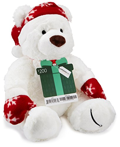 Amazon.com 0 Gift Card with a Holiday Teddy Bear - Limited Edition